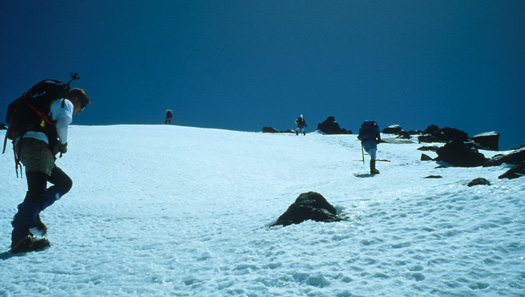 Final slopes to summit plateau