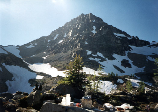 Black Peak from camp at Wing Lake
