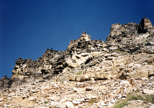 Summit ridge of Black Peak